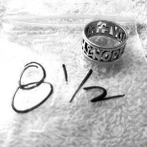 James Avery faith hope love ring